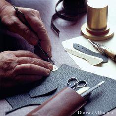 Craftsman cutting leather #luxury #handmade #leather