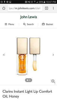 John Lewis Clarins Instant Light Lip Comfort Oil, Honey https://m.johnlewis.com/clarins-instant-light-lip-comfort-oil-honey/p/1799527?s_afcid=af_136348&awc=1203_1473047215_0757f8741e5ac5d4311a436830371491
