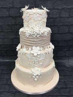 Justin Alexander Wedding Dress Cake