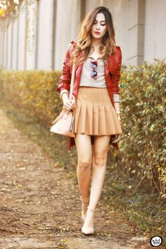 FashionCoolture - 13.07.2015 look du jour Amaro red and nude outfit (6)