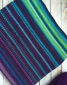 The moss stitch for a temperature blanket!  must learn this one/ak