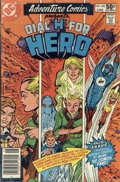 Adventure Comics Presents Dial H For Hero Marvel Dc Comics, A Comics, Comic Book Covers, Comic Books, College Books, Tiny Dancer, Classic Comics, Freedom Fighters, Dc Heroes