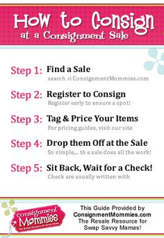 How to Consign at a Kids Seasonal Consignment Sale #consignment
