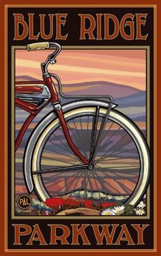 Northwest Art Mall Blue Ridge Parkway Old Half Bike North Carolina Wall Art by Paul A Lanquist, 11 by 17-Inch Northwest Art Mall,http://www.amazon.com/dp/B00CST3RG0/ref=cm_sw_r_pi_dp_1dB6sb1M8QXR5GZ9