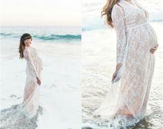 Lace maternity dress. To sew.