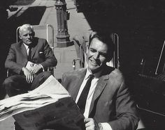 Sean Connery and Robert Shaw relax between takes during the making of one of the best James Bond films, From Russia With Love!