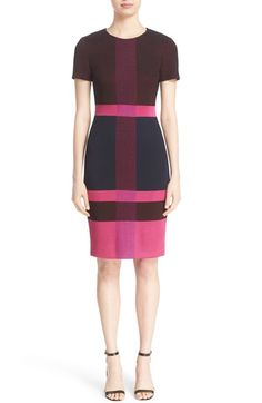 St. John Collection Caribbean Plaid Knit Dress available at #Nordstrom