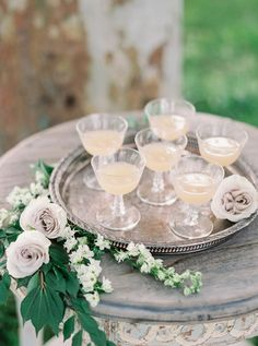 Summer Wedding Cocktails with Blooming Wildflowers | Mike Cassimatis Photography…