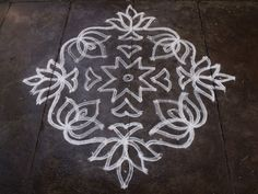 Rangoli designs/Kolam: S.No 96 - 17-1 ner pulli kolam