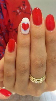 Valentines Nails. #Nails #Beauty #Holidays Visit Beauty.com for more.