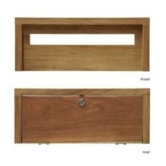 Mark Wall Integrated Letterbox: Modern design incorporating a weather flap. Large entry slot and large door makes mail easy to remove, safety lock. The internal telescopic sleeve is rebated 20mm on all sides to allow adequate space for the front and back plates to overhang the space in the wall. Constructed from New Guinea Rosewood.