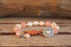 Náramky - Bohemian náramok ruženín, perly - 7676041_