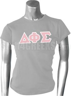 Gray Delta Phi Sigma t-shirt with the Greek letters across the chest.