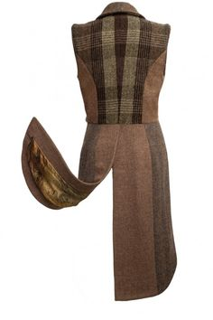 Brown Harris Tweed Tail Waistcoat #HarrisTweed #tweed #HarrisTweedWaistcoat…