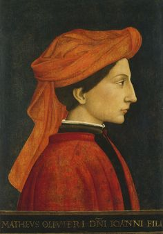 [Renaissance] Apollonio di Giovanni (?) - Ritratto di Matteo Olivieri - Washington, National Gallery of Art