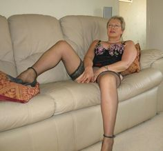 Mature women in stockings and suspenders