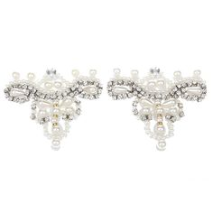 Crafts Sewing On Pearl Rhinestone Applique DIY Wedding Dress Shoe Clips White >>> You can get more details by clicking on the image.