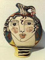 Lenticular jarra - Vista detallada del artículo - Arte en cerámica. Art and Clay. Cerámica Alfajar, Málaga.