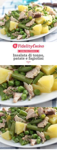 Insalata di tonno, patate e fagiolini - Recipes, tips and everything related to cooking for any level of chef. Light Recipes, Wine Recipes, Salad Recipes, Cooking Recipes, Healthy Recipes, I Love Food, Good Food, Planning Menu, Chocolate Slim