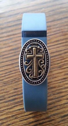 Fitness Band Bling fits Fitbit Flex and Charge, Jawbone, Garmin - cross solid #Fitbit