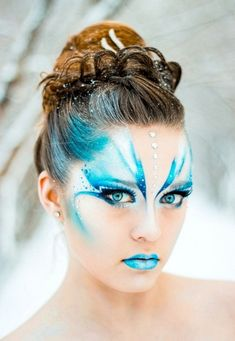 Blue fairy makeup 70 halloween makeup ideas How can you learn tricks if you're just starting to make up? Fairy Makeup, Makeup Art, Makeup Ideas, Mermaid Makeup, Lip Makeup, Fairy Fantasy Makeup, Fairy Costume Makeup, Mermaid Face Paint, Jewel Makeup