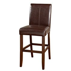 American Heritage Billiards Williams 30-inch Bar Stool -Brown (Set of 2)