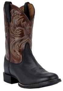 Ariat® Heritage Horseman™ Men's Black Deertan with Bloodstone Western Boots   Cavender's