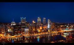 Pittsburgh,PA The City of Blinding Lights by Michael Criswell, via 500px