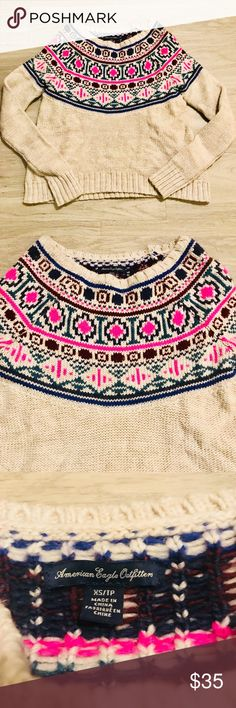 """American Eagle 🦅 Outfitters Sweater America Eagle Sweater in good condition.  Length 21""""  Width 16"""" American Eagle Outfitters Sweaters Crew & Scoop Necks"""