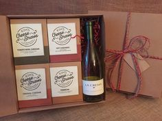 Kim's Cheese Straws 4 Flavor Gift Box + You Add Wine– $27.00 My 4 flavor gift pack + you add wine is the perfect gift to send to family, friends or clients. It contains a 3.5 oz box of each of my flavors: cheddar, parmesan, tomato basil, and hot habanero. Plus there is room in the box for you to add your favorite bottle of wine. Each 3.5 oz box feeds 3-4 people (8 straws each) so the gift pack feeds approximately 14 people...if you can stop at 8 straws. Ships in 2-3 business days.