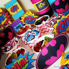 Superhelden Kinder Geburtstag Party, Rezept & Deko Ideen - Batman, supergirl