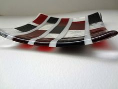 Modern Fused Glass Dish TD10 by bonifidebluesstudio on Etsy