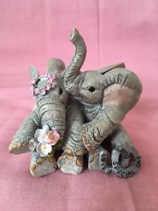 Tuskers By Country Artists Love Is Our Special Day 91333 Rare Collectible 2006 Garden Sculpture, Lion Sculpture, Country Artists, Special Day, Dinosaur Stuffed Animal, Statue, Outdoor Decor, Animals, Ebay