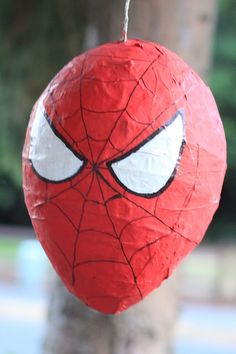 watch out for the woestmans: How to make a Paper Mache Piñata - Visit to grab an amazing super hero shirt now on sale Spider Man Party, Fête Spider Man, Spider Man Birthday, Avengers Birthday, Superhero Birthday Party, 4th Birthday Parties, Birthday Fun, Spiderman Birthday Ideas, Birthday Pinata