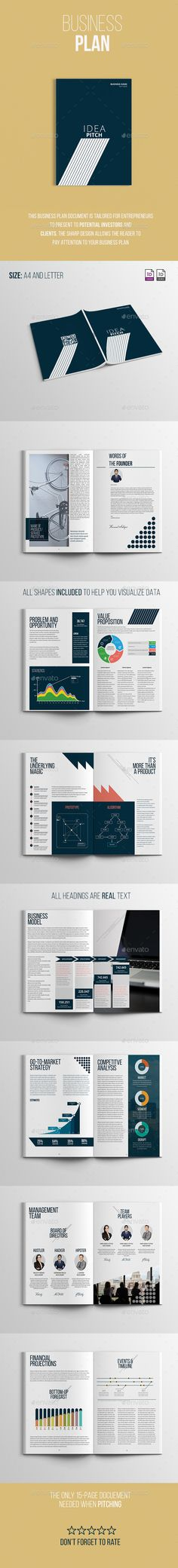 Business Plan Document Template InDesign INDD #design Download: http://graphicriver.net/item/business-plan/14446762?ref=ksioks