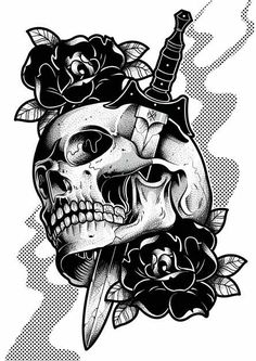 Drawing with Pencil: Drawing for Tatoo - Skulls - Drawing with Pencil: Drawing for Tatoo – Skull Sketch Tattoo Design, Skull Tattoo Design, Skull Tattoos, Tattoo Sketches, Body Art Tattoos, Tattoo Drawings, Art Sketches, Sleeve Tattoos, Tattoo Designs