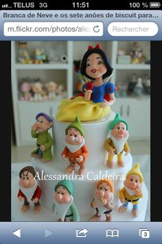 Gâteau Blanche neige et les sept nains.