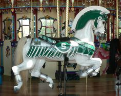 Michigan State Spartans Carousel Horse