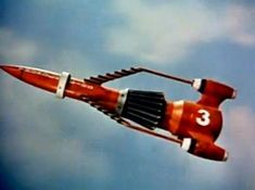 The Thunderbird 3 Rocket from the UKTV show Thunderbirds, Turner Classic Movies, Classic Tv, New Movies, Good Movies, Joe 90, 80 Tv Shows, Thunderbirds Are Go, Retro Rocket, Sci Fi Ships