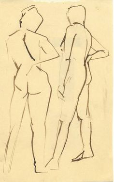 "Saatchi Art Artist Linda Schot; Drawing, ""nude 1"" #art"