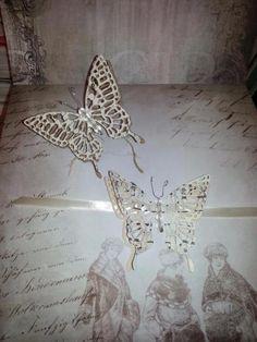 Schmetterling Einladungen Einladung Einladungskarte Hochzeit Wedding  Invitationshabby Chic Vintage Edel Elegant Geburtstag Kommunion Taufe Preis: