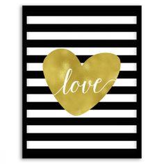 Love in Stripes Wall Art