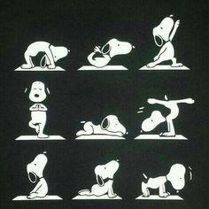 Snoopy yoga haha!
