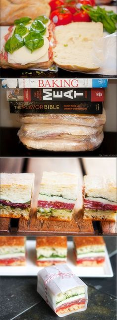 pressed picnic sandwiches - Joybx