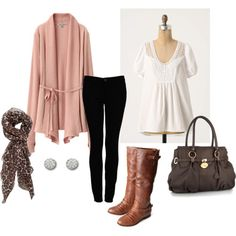I made this too - my perfect fall outfit. I own everything except the boots!!