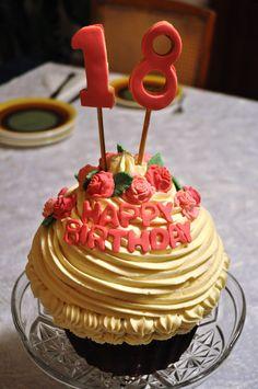 My giant Bday cupcake! <3