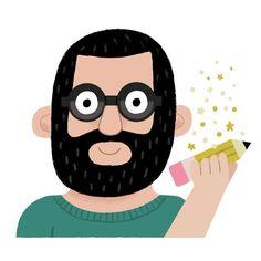 Andy J Miller - illustrator / podcaster Design Art, Character Design, Stationery, Symbols, Letters, Illustration, Instagram Posts, Artist, Portraits