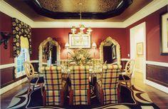dining room table set dark wood dining room table formal dining room #DiningRoom