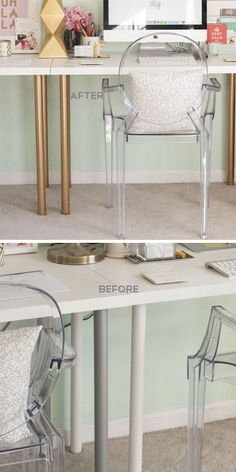 Dress Up Your Desks Legs With Gold Spray Paint | 18 Life Hacks Every Girl Should Know | Easy DIY Projects for the Home