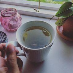 Afslapning med te 👌🏼🌱 #afslapning #te #aftente #plante #sommervejr #lunluft…